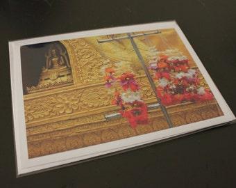 """Blank Photo Greeting Card, 7"""" x 5"""", 'Dai Buddah'"""