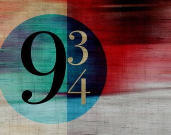 9 3/4...  Harry Potter Typography Art
