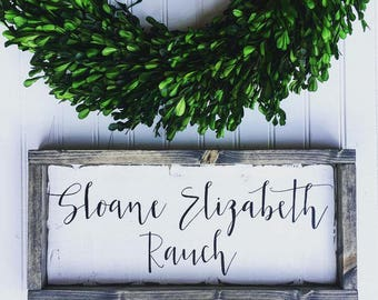 wooden name sign | baby nursery sign