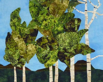 Aspen Trees quilt pattern - ON SALE