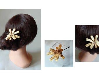 Clip hair Bohemian hair pin, Haarklammer, wedding hat, Hochzeir, barrette, bun stick