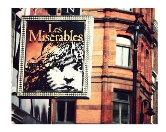 "Les Miserables in London, London Photography, Fine Art Print, Travel Image, Photography Print ""Les Mis"""