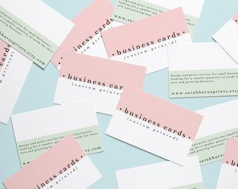 Printed Business Cards, Custom Printed Business Cards, Value Business Cards, Business Thank You Cards, Printed Calling Card, Compliment Card