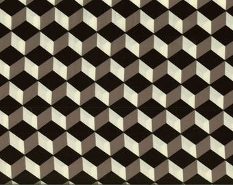Pattern black and white cubes