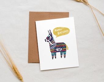 Birthday Pinata - Greeting Card