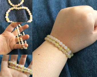 Green and Pink Bracelet Pair