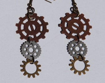 SteamPunk Gear earings