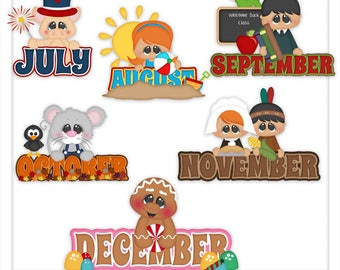 Calendar Clipart - Classroom Clipart - Teacher Clipart - Months Clipart - Kids Clipart - Learning Clipart