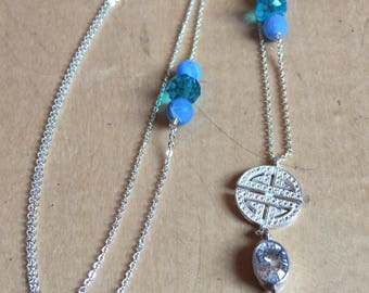 Necklace Silver/Blue