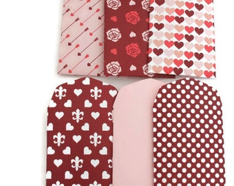 6 mini envelopes - valentine gift card holders - gift enclosures - gift card holder - coin envelopes