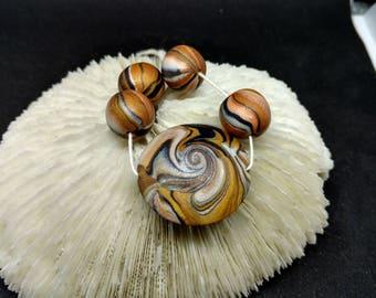 Handmade Polymer Necklace Bead Set (A)