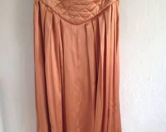 Vintage Wallis bronze satin skirt size 12 UK