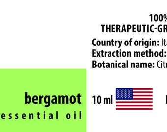 Bergamot 100% Pure Essential Oil from Italy 10ml