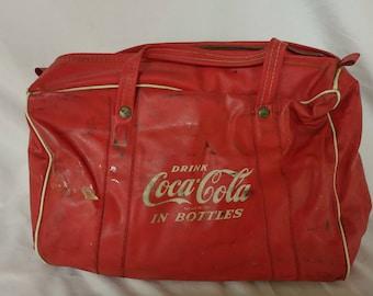 Retro Advertising Coca-Cola Soft Cooler Mid-Century Promotional Item