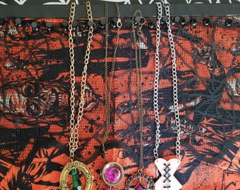 pendent necklaces (corset necklace and other pendents)