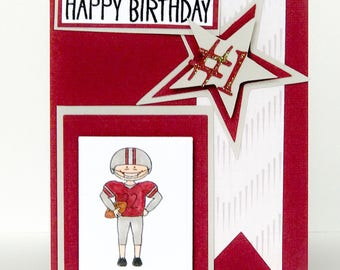 Boys birthday card etsy handmade birthday card boys birthday card football card mens birthday sports birthday bookmarktalkfo Gallery
