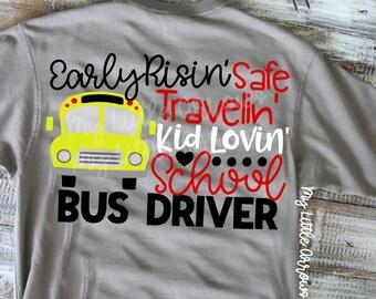 Bus driver svg - school bus svg - back to school svg - silhouette dxf files - cut files - cricut svg files - school bus driver gift svg