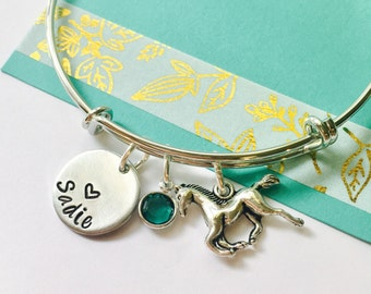 Horse Bracelet, Personalized Horse Bracelet, Horse Jewelry, Personalized Horse Jewelry