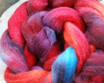 CorriedaleTop handdyed 3,5 oz, colour July fish1