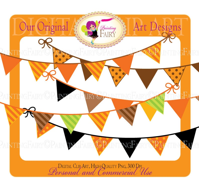 buy 2 get 1 free bunting clipart halloween thanksgiving autumn rh etsy com but clipart buy clip art for commercial use