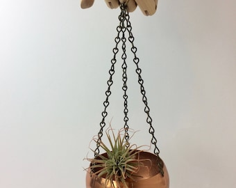 Charming Vintage Coppercraft Guild Small Hanging Planter Bowl