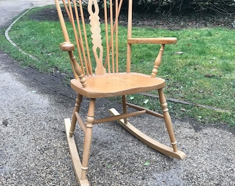 AVAILABLE TO COMMISSION rocking chair, wooden chair, rocking armchair, fireside chair, wooden rocking chair