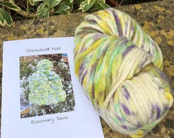 200g  hand dyed  merino chunky yarn  hat kit