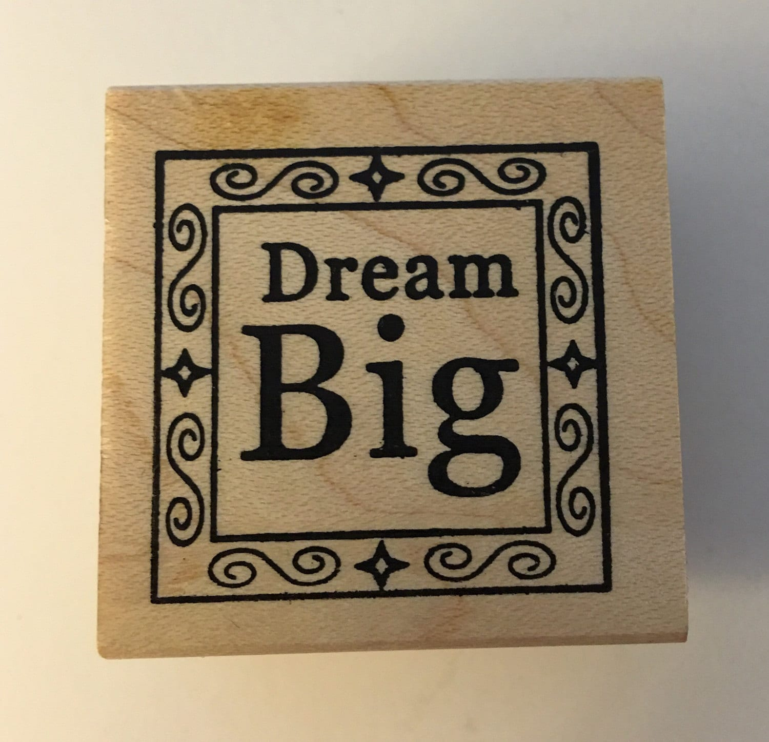 Outlines Rubber Stamp Company Wood Mounted Rubber Stamp Dream