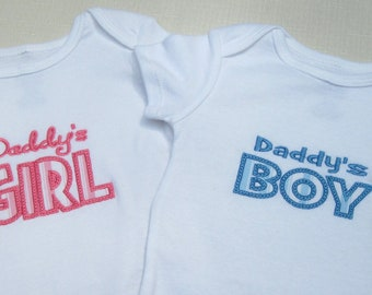 Daddy's Boy or Daddy's Girl Bodysuits and T-shirts