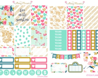 Perfect Summer Weekly Planner Sticker Kit for use with ERIN CONDREN LIFEPLANNER™, Happy Planner, A5, Personal, Pocket, Travelers Notebook