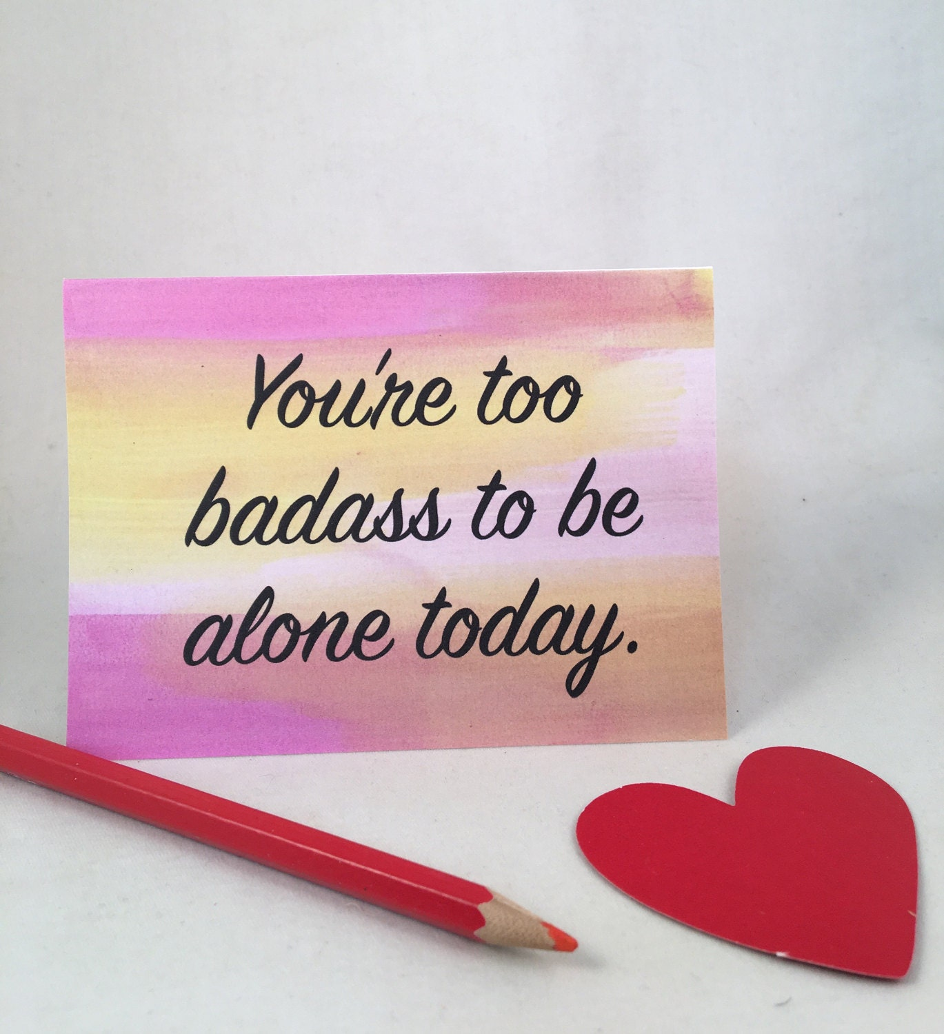 Youre too badass valentine card sister valentine friend zoom m4hsunfo Choice Image