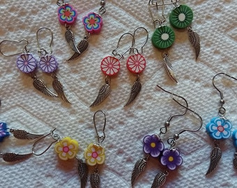 Winged spring earrings ~ choose your color ~