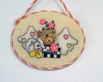 Angel Bear with Rabbit Ornament