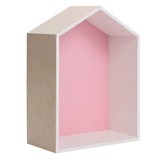 READY TO SHIP Pink house shelf Nursery and living room decor