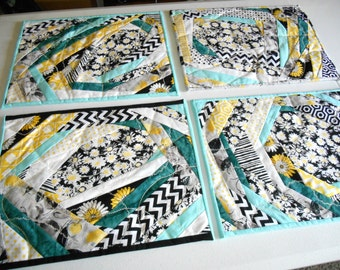Crazy Quilt Place Mat tutorial and pattern