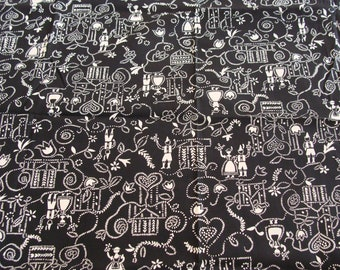 Vintage Cotton Fabric ~ Just Cute and Kitschy  ~ Quilting Quilt