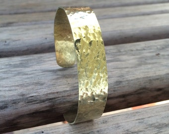 Thin Hammered Brass Cuff Bracelet for Petite to Large Wrists  |  Customized Brass Bracelet | Polished Brass Bracelet | Elegant Brass Cuff