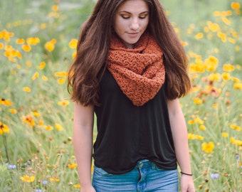 woman's infinity scarf // chunky cowl //