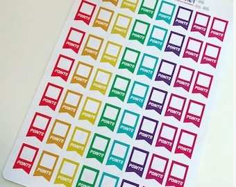 56 weight points tracker Planner Stickers ECLP happy planner filofax recollections flags rainbow Slimming fitness