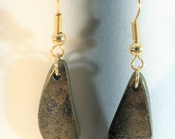 Earrings - Pyrite