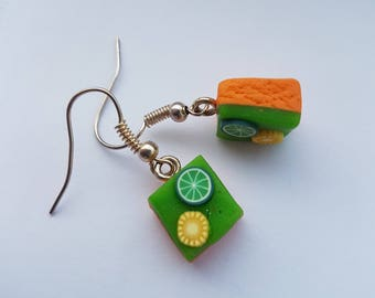 Fimo - Lemon - Lime - Cake - Earrings