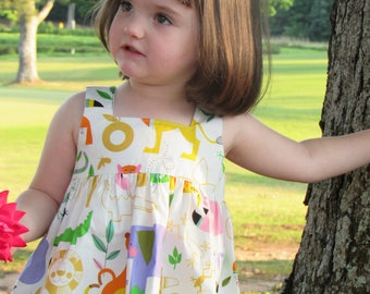 Tilly Open Back Pinafore Top ONLY for baby toddler girls - 6 mos to size 8 - Choose your own fabric
