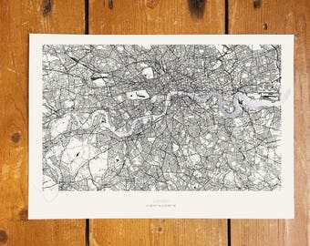 London Metallic Thames Map - Silver Foil