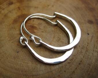 Sterling Silver Earrings Handmade Hammered Petite Julia Hoops Earrings