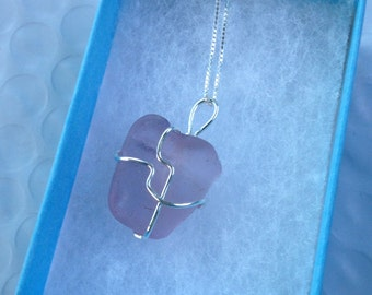 Luxe Lavender Seaglass Sterling Necklace
