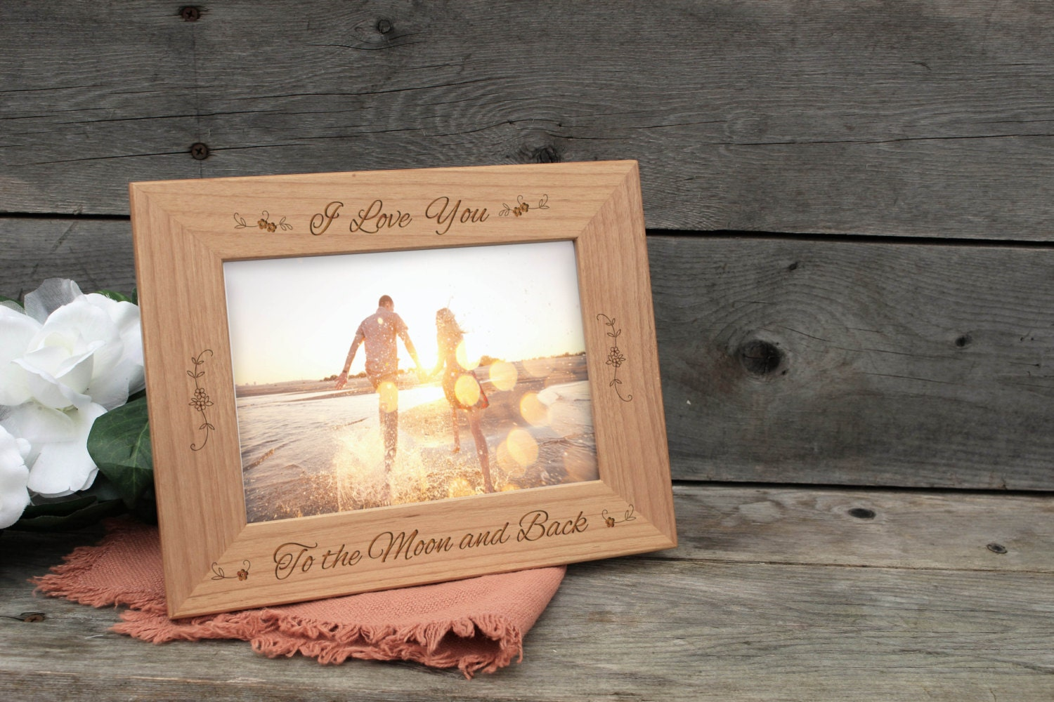 Personalized picture frame i love you to the moon and back wooden 3500 jeuxipadfo Image collections