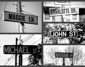5+ Names Personalized Street Sign Photo