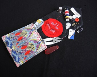 Liberty Ianthe custom Luxury travel sewing kit -retro iconic fabric with good quality contents -LIMITED EDITION made to order/ready to ship