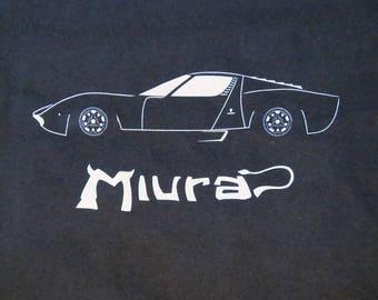 Lamborghini Miura P400 sports car T-shirt