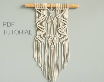Boho Macrame Pattern - Macrame Tutorial - Macrame Patterns - Macrame Wall Hanging Pattern - Wall Hanging - Modern Macrame - Pattern - DIY